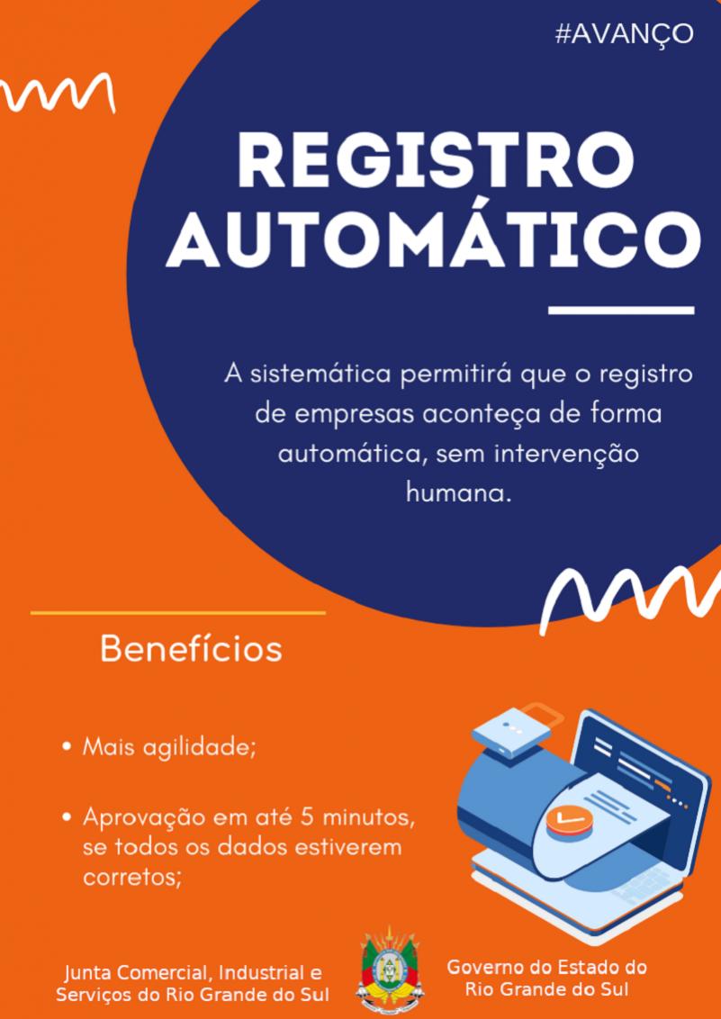 Sistema De Registro Automático De Empresas Entra Em Vigor Dia 21 De Maio Na Junta Comercial Do RS